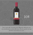 wine beverage card template with price vector image vector image
