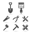 Working tool Icons on white elements vector image vector image