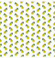 yellow funny cartoon fruit pear seamless pattern vector image