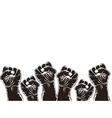 fist for revolution vector image