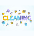household and cleaning service concept paper art vector image