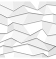3d white paper background vector image vector image