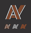 a and y initial letters creative logo template vector image vector image