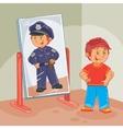 a little boy dreams vector image vector image