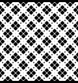 abstract black and white seamless rounded square vector image vector image