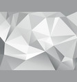 abstract low poly geometric gray background vector image vector image