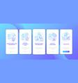 app developer skills onboarding mobile app page vector image vector image