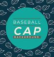 Baseball Caps Background vector image