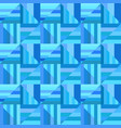 blue geometrical striped triangle mosaic tile vector image vector image