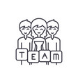 business team line icon concept business team vector image vector image