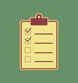 checklist sign cordovan icon vector image vector image