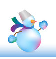 christmas and new year snowman vector image