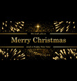 christmas tree card firework black background vector image