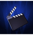 Clapper board blank movie production on white vector image