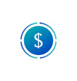 coin with dollar sign and dots around simple icon vector image