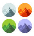 color mountain icons set on white background vector image vector image