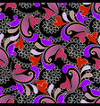 colorful floral vintage paisley seamless pattern vector image