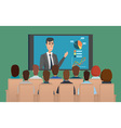 Corporation directors board at the conference call vector image