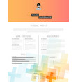 creative cv template with plus signs vector image vector image