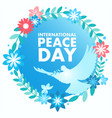 decorative peace symbol for international day of vector image vector image