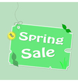 Discount spring labels vector image
