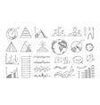 doodle diagrams business presentation vector image