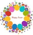 easter greeting card with egg and flowered pattern vector image vector image