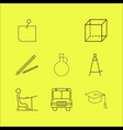 education linear icon set simple outline icons vector image vector image