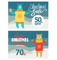 final christmas sale up to 50-70 off promo poster vector image vector image