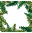 Fir tree hand drawn frame for winter and vector image