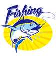 fishing tuna vector image vector image