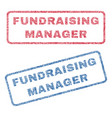 fundraising manager textile stamps vector image vector image