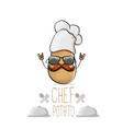 funny cartoon cute brown chef potato vector image