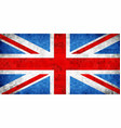 grunge mosaic flag of great britain vector image