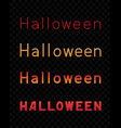 halloween text dark transparent background vector image