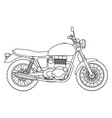 Hand draw style of a new motorcycle