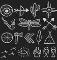 Hand drawn doodle native american symbols set vector image vector image