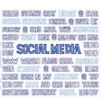 hand written social media words tags and labels vector image