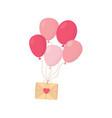 happy valentines day romantic message envelope vector image