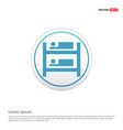 hostel bed icon - white circle button vector image