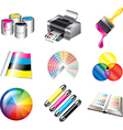 icons print vector image vector image