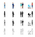 isolated object of character and avatar sign vector image