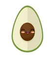 kawaii cute avocado funny icon vector image vector image