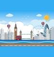 london city lin scene vector image
