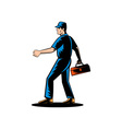 Mechanic tradesman repairman vector image vector image