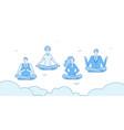 meditation businessmen people relax in zen yoga vector image