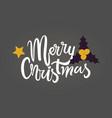 merry christmas dark theme vector image vector image