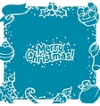 merry christmas invitation card with holiday vector image vector image