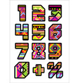 mexican numbers vector image vector image
