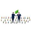 new green deals handshake sustainable environment vector image vector image